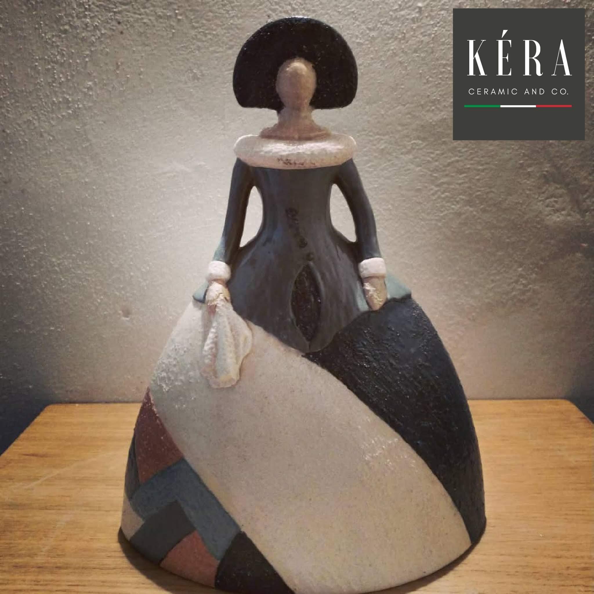 Ceramic and gres figurine 27x20cm